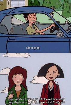 Me around guys Daria Morgendorffer, Cartoon Tv Shows, A Cartoon, Daria Quotes, Daria Mtv, Bad Romance, Tv Show Quotes, Book Tv, My Spirit Animal
