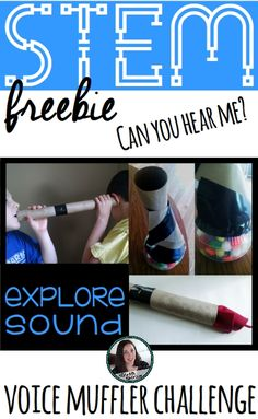 STEM activity - design and build a voice muffler. Can you hear the other person? What materials work best? Great hands-on sound activity. Includes vocabulary word wall cards & more.