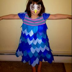 Made my kid a blue owl!