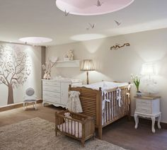 Classic colours create an elegant baby bedroom