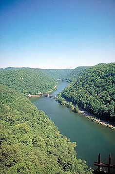 New River in West Virginia, the world's third-oldest river geologically.