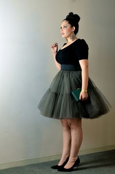 Haute Tutu by GirlWithCurves BBW sexy curvy girl thick chubby plump Plus Size fashion model