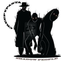 Creepypasta: shadow people by gabkt shadow people, creepypasta, hats for me Person Drawing, Drawing People, Shadow People, Dnd Monsters, Illustration Art Drawing, Couple Art, Creepypasta, Hats For Men, Figurative Art