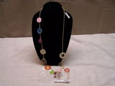 #4 - LOVE! ... Coach Enamel Multi Disc Necklace F95376