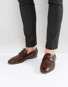 NEW LOOK LOAFER IN DARK BROWN - BROWN. #newlook #shoes #