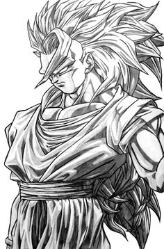 yo folks ^^ this a drawing of Goku in his Grade Ascended Super Saiyan from DRAGON BALL NA made by Goku Ascended Goku Super, Super Saiyan, Dbz Drawings, Ball Drawing, Goku Drawing, Art Anime, Z Arts, Dragon Ball Gt, Fanart