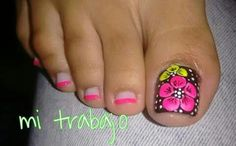 Fingernail Designs, Toe Nail Designs, Simple Nail Designs, Nail Polish Designs, Pretty Toe Nails, Cute Toe Nails, Pedicure Designs, Pedicure Nail Art, Toe Nail Color