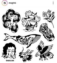 Tatto Old, 4 Tattoo, Knee Tattoo, Doodle Tattoo, Traditional Tattoo Illustration, Traditional Tattoo Art, Art Drawings Sketches, Tattoo Sketches, Tattoo Drawings