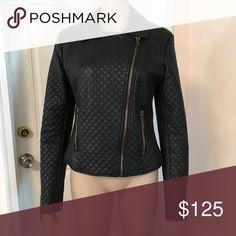 Leather jacket Women's leather jacket Bar III Jackets & Coats