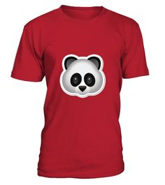 Panda Emoji T shirt Bear Cute Zoo Animal Cub Grizzly Bamboo