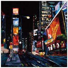 Times Square Canvas Art II (I want this on my wall)