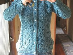 #14 Lily of the valley Cardigan pattern by Hitomi Shida (志田 ひとみ)