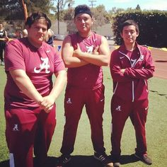 "JV throwers Freddie Sotelo (39'11.5"") Ian Bolleurs (37'9.5"") and Gabe Mazariegos (23') finished 1st 3rd 13th at the Mission Throws Finals."