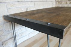 Industrial Rustic Reclaimed Wood Coffee Table