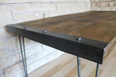 Industrial Rustic Reclaimed Wood Coffee Table