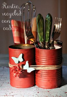 rustic craft. I love this but metal coffee cans are getting really hard to find.