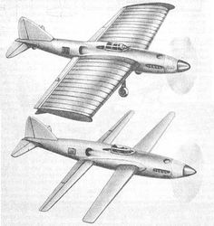 the NIAI RK-I extending-wing aircraft, circa 1938