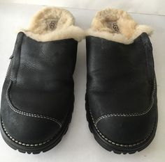 Clothes, Shoes & Accessories Rapture Sheepskin Womens Slippers Hand Made Natural Leather Navy Blue Fur Uk 4-8