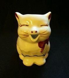 Vintage Shawnee Pottery Puss 'N Boots Cat Creamer Kitten Kitty Pitcher KS12   eBay