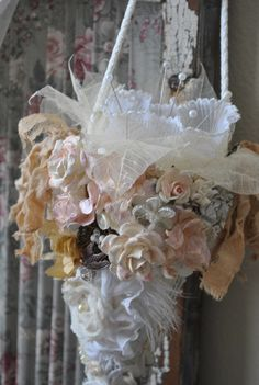 Shabby Chic Tussie Mussie Stick Pin Holder