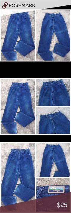 VTG WRANGLER HI WAIST WESTERN JEANS 11 W-29 L-36 VTG WRANGLER HI WAIST WESTERN JEANS 11 W-29 L-36 Wrangler Jeans Boot Cut