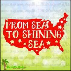 From Sea to Shining Sea 4th of July Design Digital Clipart Cut File Instant Download Jpeg Png SVG EPS DXF File - pinned by pin4etsy.com