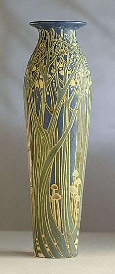 "artnouveaustyle:  ""Frederick Hurten Rhead for University City Pottery, 1911. Collection of Los Angeles County Museum of Art."" #art nouveau #vase #antique"