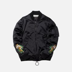 Off-White Souvenir Bomber - Black Brown Leather Jacket Men, Leather Men, Biker Style, Fitness Fashion, Off White, Cotton Fabric, Bomber Jacket, Jackets, Black