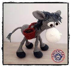 Crochet donkey by Zwooczki on Etsy