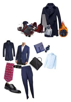 """Без названия #13"" by dah70 on Polyvore featuring Armani Collezioni, Topman, FAY, Harry Brown, BOSS Hugo Boss, Corneliani, Joseph, Barba, Burberry и AMI"