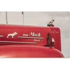 Trademark Fine Art Mack Truck 2 inch Canvas Art by Jason Shaffer, Size: 12 x 19, Assorted