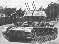 """The Flakpanzer IV """"Wirbelwind"""" (Whirlwind in English) was a self-propelled anti-aircraft gun based on the Panzer IV tank."""