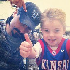 Father and son... Kevin Richardson with Mason Richardson.