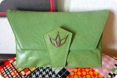 Luxus UNIKAT 50er / 60er Leder Clutch Tasche Handtasche Handbag Bag Mint Grün in Kleidung & Accessoires, Damentaschen   eBay