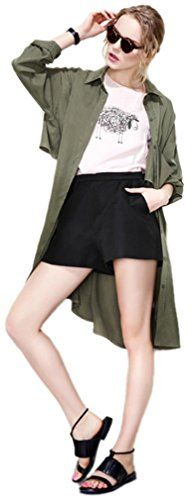 CgQgXn® Womens Casual Drape Pockets Street Army Jacket   CgQgXn® Womens Casual Drape Pockets Street Army Jacket This is a great outfit for the fashion lady. You will like the unique design and wear with your legging and shorts for a long time.      FREE Two-Day shipping  with Amazon Prime, please make sure Sold by   Barry.Kia  and Fulfilled by Amazon  http://www.beststreetstyle.com/cgqgxn-womens-casual-drape-pockets-street-army-jacket/