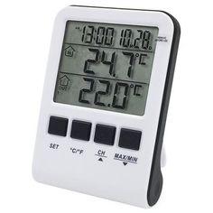 Pokiaľ si potrebujete zaobstarať teplomer, u nás nájdete široký výber teplomerov rôznych druhov a dizajnov. Ak potrebujete zistiť vonkajšiu teplotu tak si vyberte vonkajší teplomer. Na celkový prehľad o aktuálnom počasí odporúčame meteostanice. Digital Alarm Clock, Cooking Timer, Minis, Home Decor, Homemade Home Decor, Decoration Home, Miniatures, Interior Decorating