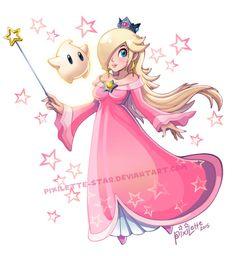 angel–chavez: Rosalina and Luma: Pretty in Pink by Pixilette-Star Mario Fan Art, Super Mario Art, Mario Bros., Mario And Luigi, Mario Kart, Metroid, Steven Universe, Harmonie Mario, All Mario Games