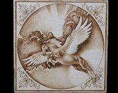 """Pyrography, Wood Burning - """"Pegasus"""""""