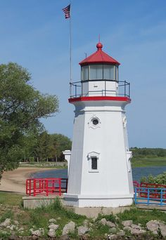 Crib Lighthouse, Cheboygan, Michigan by Karl Agre, M.D., via Flickr