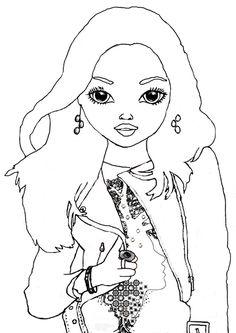 malvorlagen topmodel ausmalbilder 2013666 - affefreund | fashion coloring | pinterest