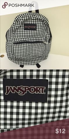 Selling this Black & White Checkered JanSport backpack on Poshmark! My username is: halseymour. #shopmycloset #poshmark #fashion #shopping #style #forsale #Jansport #Other