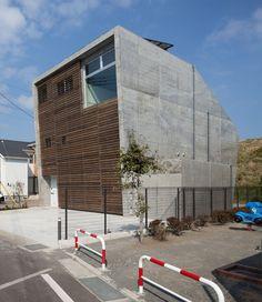 Beton Bau Hausbau mit Sichtbeton Modern level architects: house in fuji