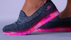 SKETCHERS combined Comfort Flex Technology with a GOga Mat insole to create the flexible and comfortable GO FLEX Walk athletic shoe. Sketchers Shoes Women, Sketchers Go Walk, Slip On Sneakers, Air Max Sneakers, Cute Shoes, Me Too Shoes, Mens Walking Shoes, Shoe Wardrobe, Shoes