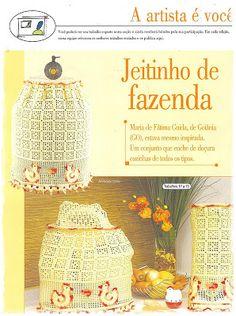BIG artes - Blog: JOGO DE COZINHA EM CROCHÊ COM LINHA