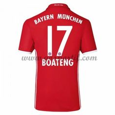 maillot de foot Bundesliga Bayern Munich 2016-17 Boateng 17 maillot domicile