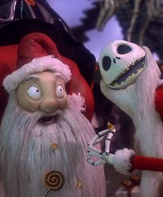 *SANTY CLAWS & JACK SKELLINGTON ~ The Nightmare Before Christmas, 1993