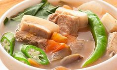 """Pork Sinigang or Sinigang na Baboy is a sour soup common to the Philippines. This particular soup dish uses pork as the main ingredient. Bony parts of the pig known as """"buto-buto"""" are usually…"""