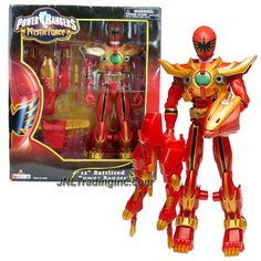 "Bandai Power Rangers Mystic Force Series 12"" Tall Figure - BATTLIZED RED POWER RANGER with Missile Launcher and 2 Missiles"