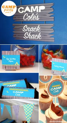 camping themed party, great for boy or girl! Would be a great summer party :)