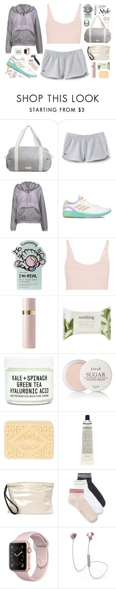 """[gymwear // 10:35 AM]"" by erica-au ❤ liked on Polyvore featuring MANGO, Lacoste, adidas, STELLA McCARTNEY, TONYMOLY, Live the Process, Valentino, Forever 21, Youth To The People and Fresh"